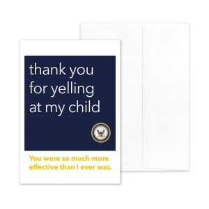 Yelling - US Navy boot camp RDC Thank You greeting card - by 2MyHero