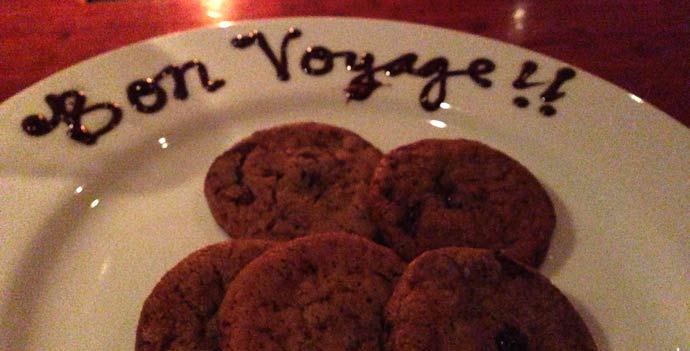 Bon Voyage cookies at Hearth