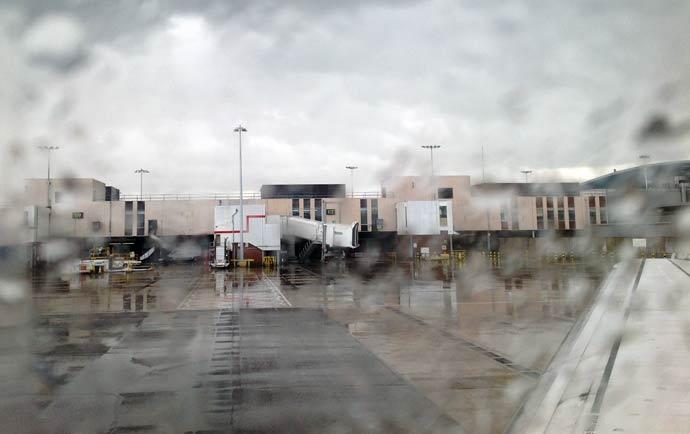 Watching the rain in Heathrow