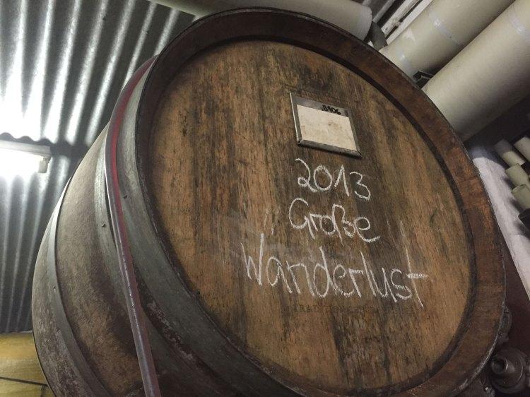 Barrel during bottling