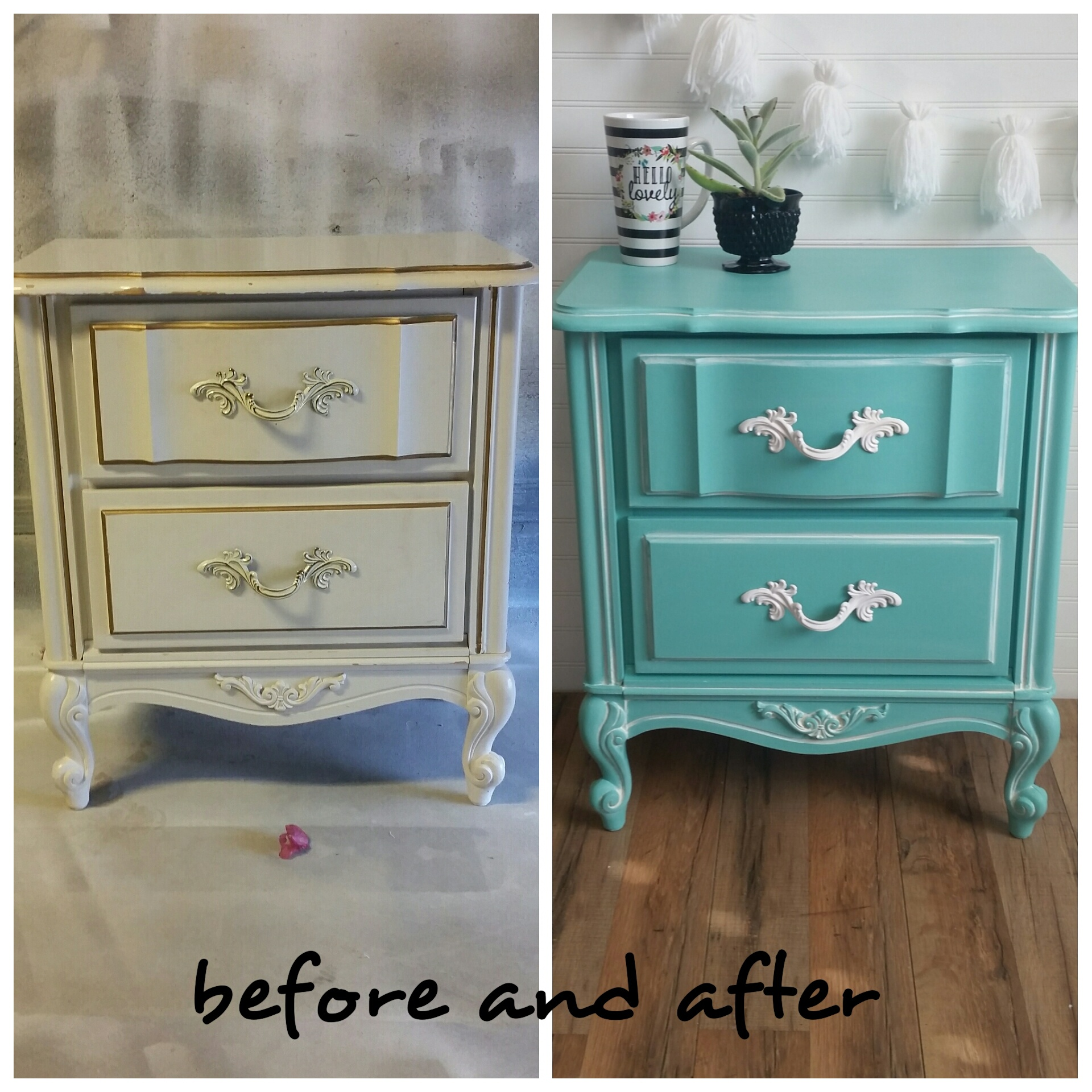 French Provincial Nightstand Second Chance Charms