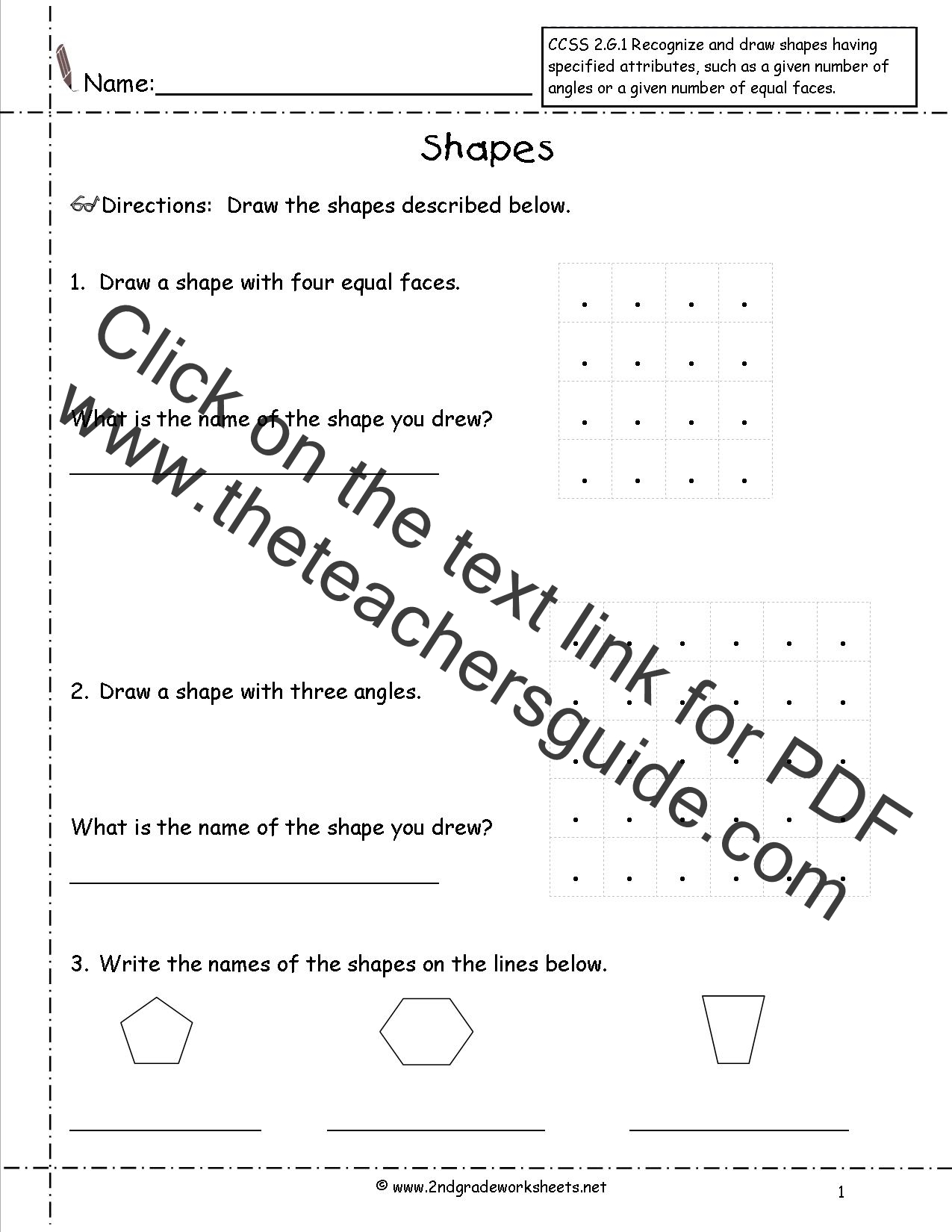 Ccss 2 G 1 Worksheets