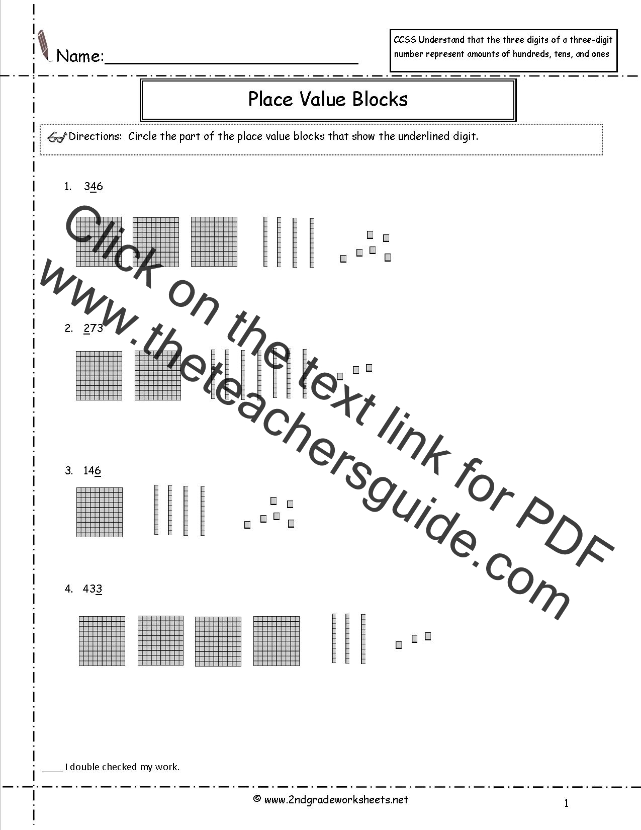 Place Value Blocks Worksheets Images