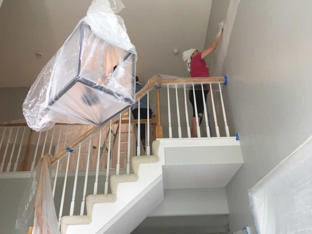 Installing Hardwood On Stairs Add Style With Kansas City   Installing Hardwood On Stairs   Tile Riser White Landing Tread   Combined Wood   Brazilian Cherry Hardwood Stair   Cream Wood   Bottom Stair