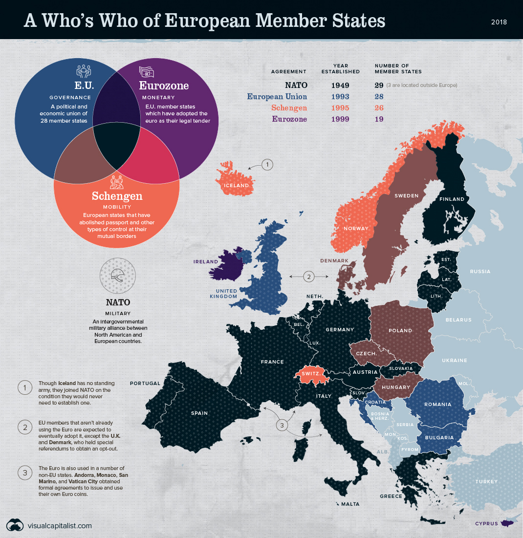 Infographic Of The Day Map A Visual Guide To Europe S