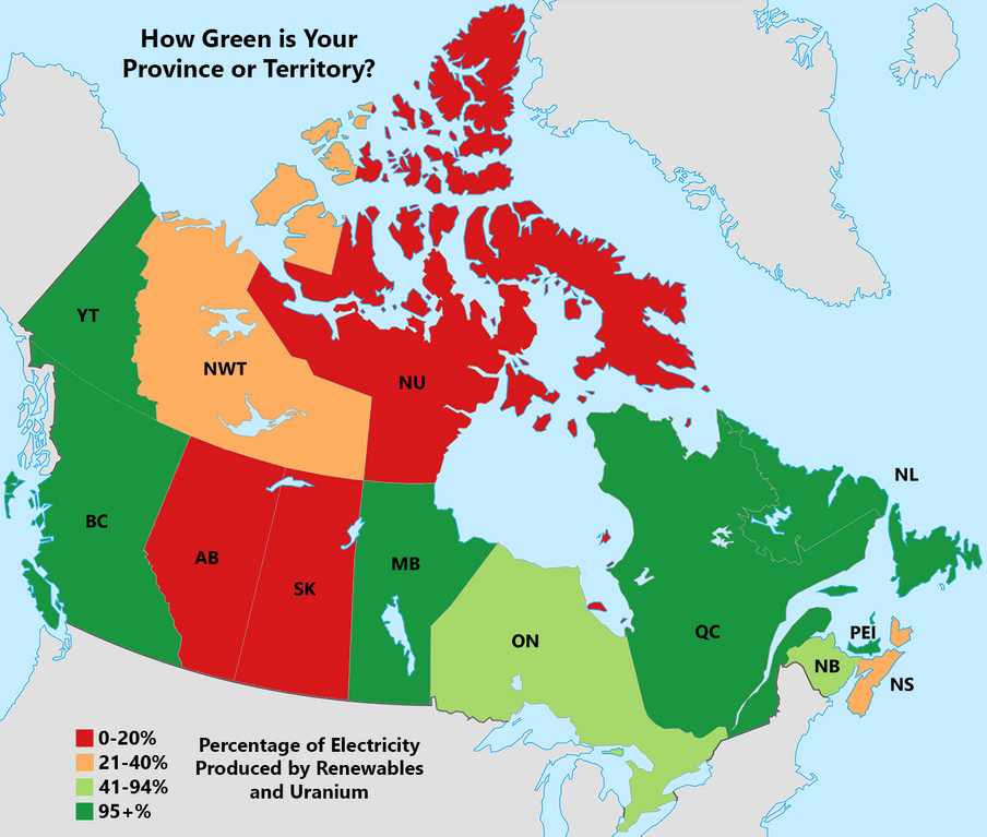 How Green is Your Province?