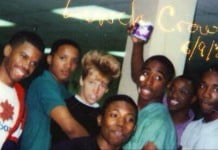 tupac,vanilla ice, carmelo anthony in second left an a couple other black guys