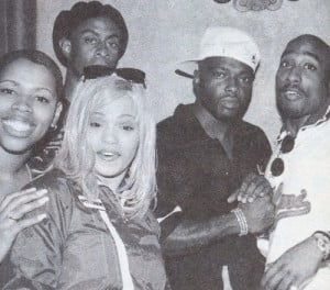 October 1995 with Faith Evans and Treach at the Hollywood Athletic Club in L.A.