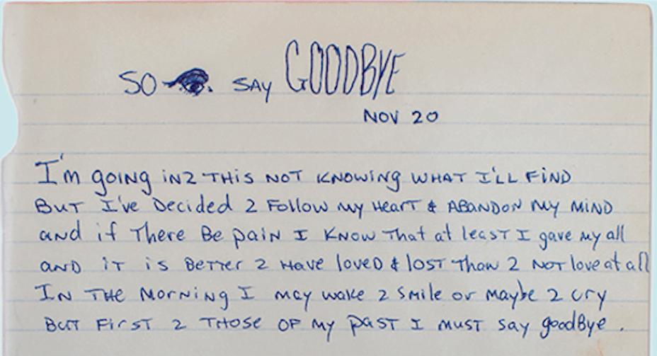 so i say goodbye tupac s handwritten poem net