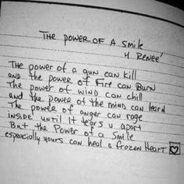 The Power Of A Smile 4 Renee Tupacs Handwritten Poem 2pac Legacy