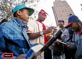 Tupac In Harlem, New York, 1994. Photographer T. Eric Monroe