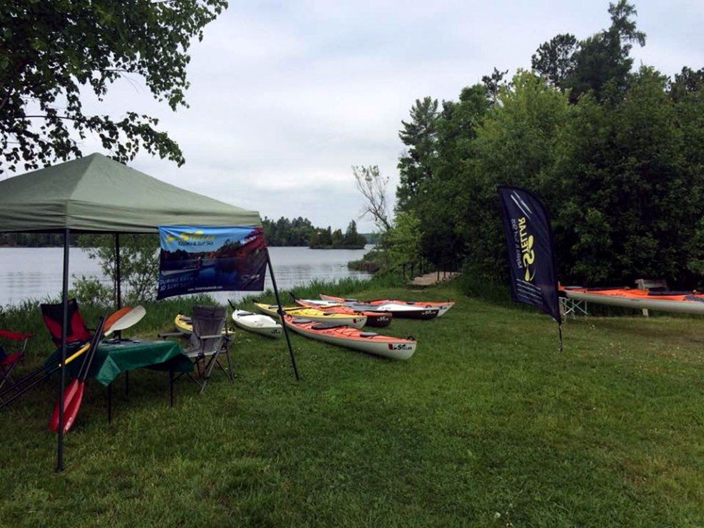 Booth in Ely, MN at the Great American Canoe Festival.