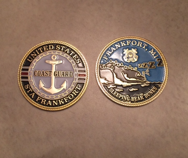 Frankfort Coast Guard station medallions.