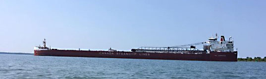 Canada Steamship Lines freighter on Lake Superior.