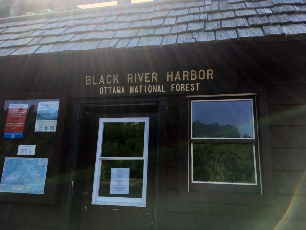 Black River Harbor, Ottawa National Forest office.