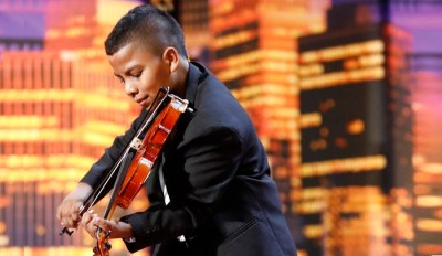 b63775339 AGT Violinist Tyler, 11, Survived Leukemia, Played Streets For Money