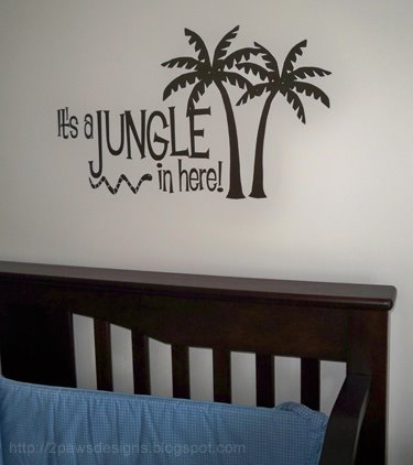 """""""It's a Jungle in Here"""" vinyl decal: before"""