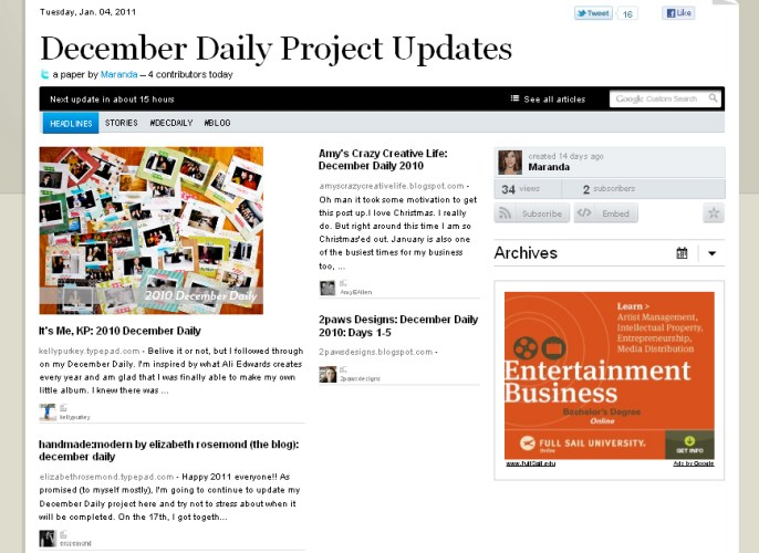 Featured: Dec Daily Project Updates