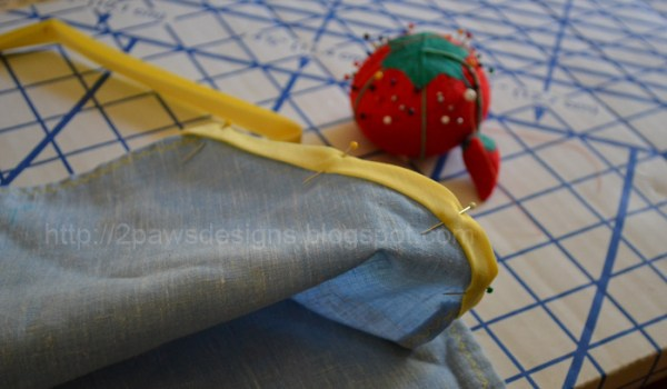 Art Smock: Pinned Bias Tape