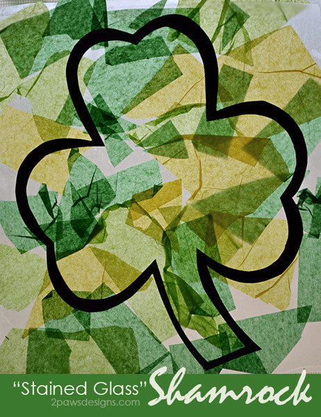 """Stained Glass"" Shamrock Art"