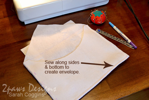 Create your own Felt Valentine Envelope Chair Backers. #diy #tutorial 2pawsdesigns.com