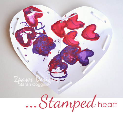 Stamped Heart - Valentine's Day kids' craft