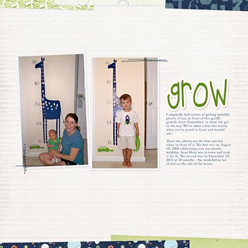 'grow' digital scrapbooking page