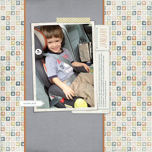 New Booster Seat digital scrapbook page