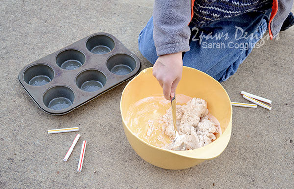 Birdseed Molds: Stir Ingredients