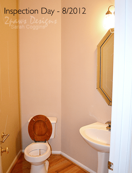 Half Bath Before Remodel: Inspection Day #foreclosuretohome