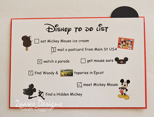 Disney Trip Envelope 2013: To Do List