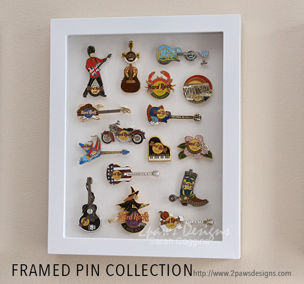 Framed Pin Collection: Hard Rock Cafe