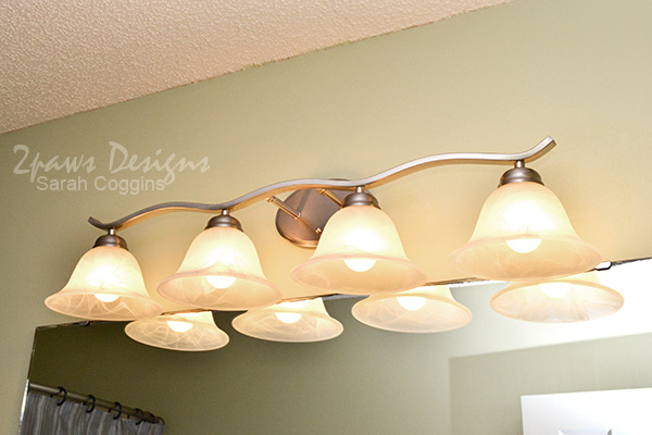 Hall Bath: New Light Fixture