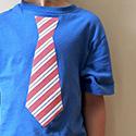 15 Minute DIY Necktie Tee