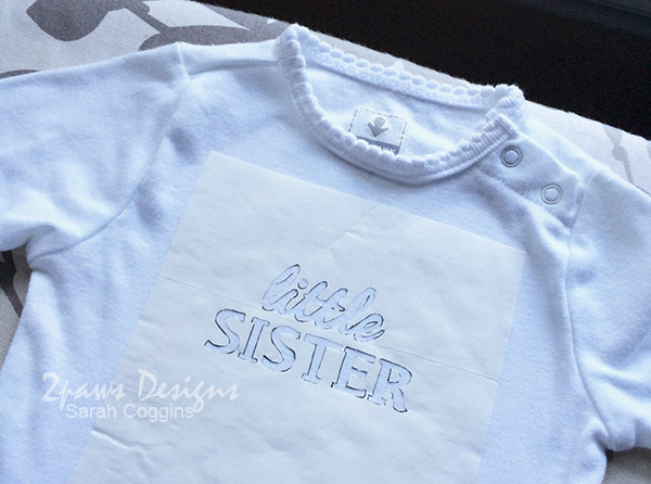 Little Sister Shirt: Iron On Freezer Paper Stencil