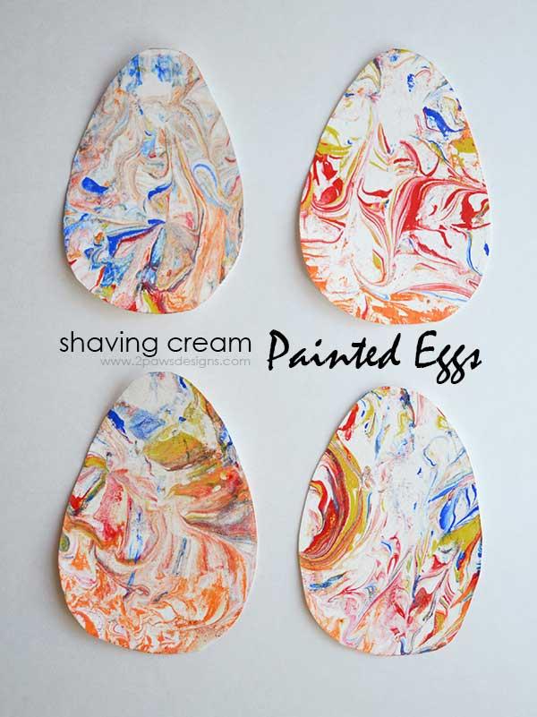 Shaving Cream Painted Eggs
