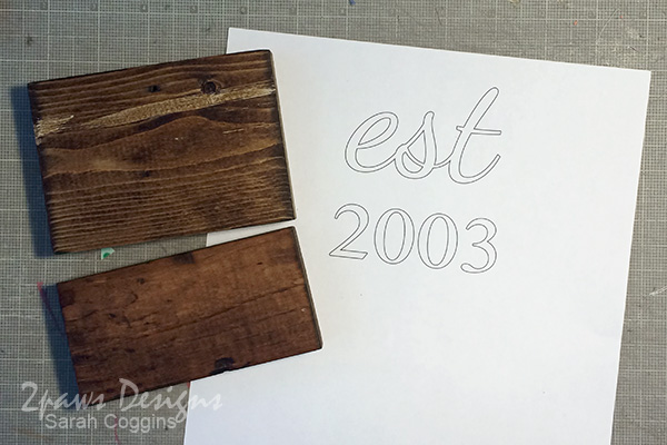DIY Established Sign: Lettering