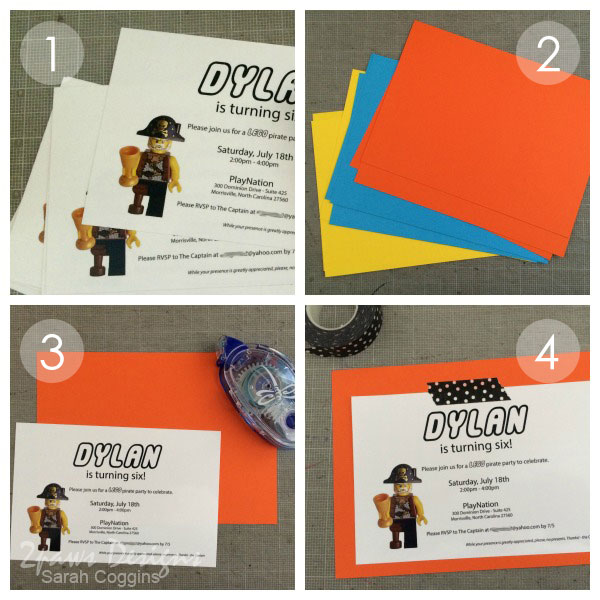 Lego Pirate Party: Invitations Tutorial