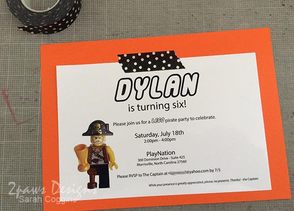 Lego Pirate Party: Invitation