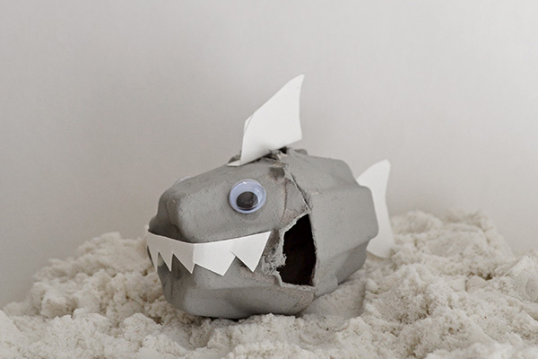 Shark Week: Egg Carton Shark Craft