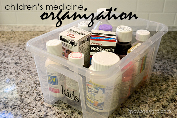 Children's Medicine Organized & Ready for Cold & Flu Season #HealthySavings #ad