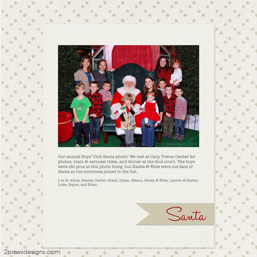 BCC Santa Photo 2015 digital scrapbooking page