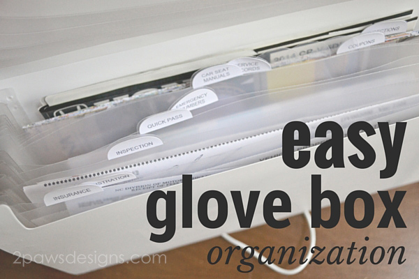 Easy Glove Box Organization