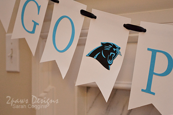 DIY Game Day Banner: Carolina Panthers Detail