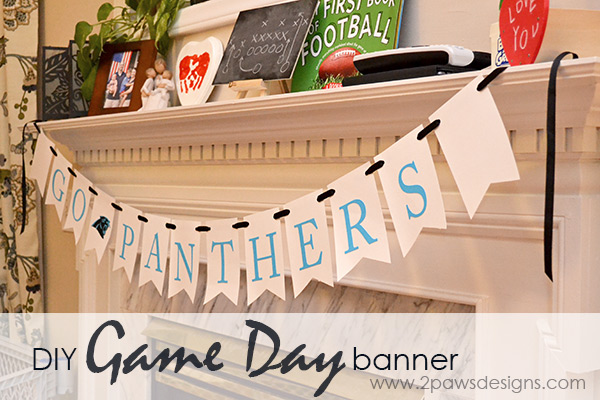 DIY Game Day Banner