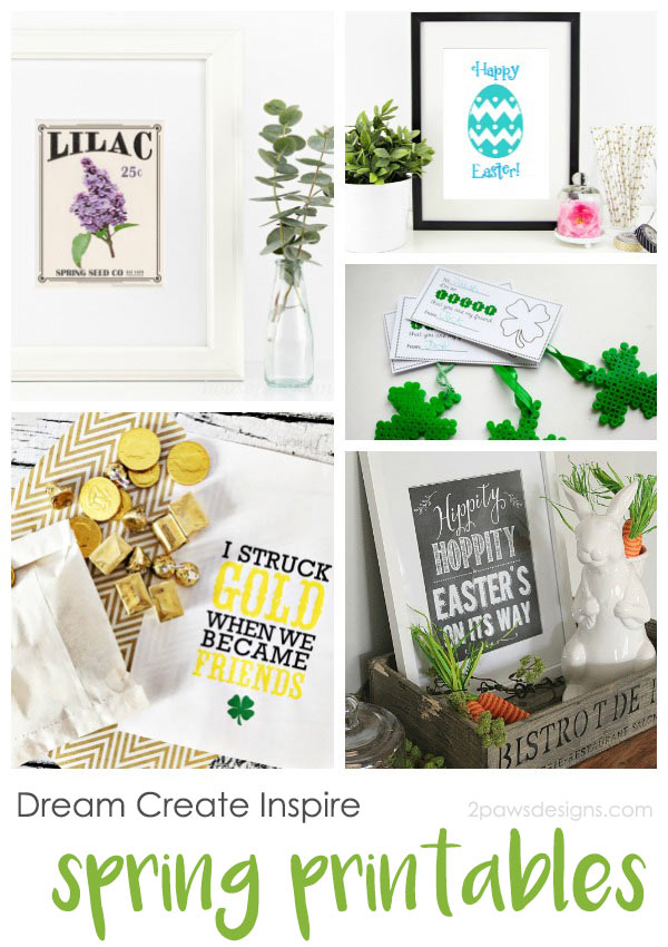 Dream Create Inspire: Spring Printables