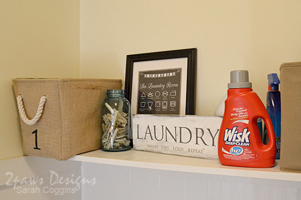 Laundry Room Shelf Decor