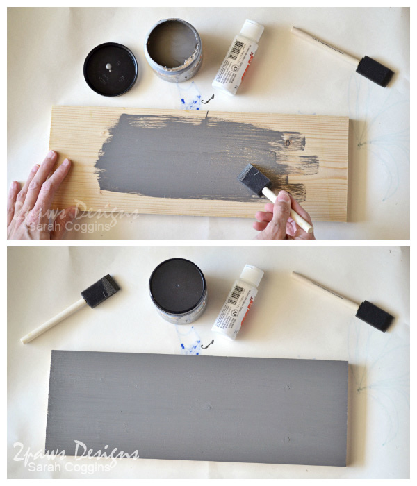 DIY Laundry Room Sign: Paint