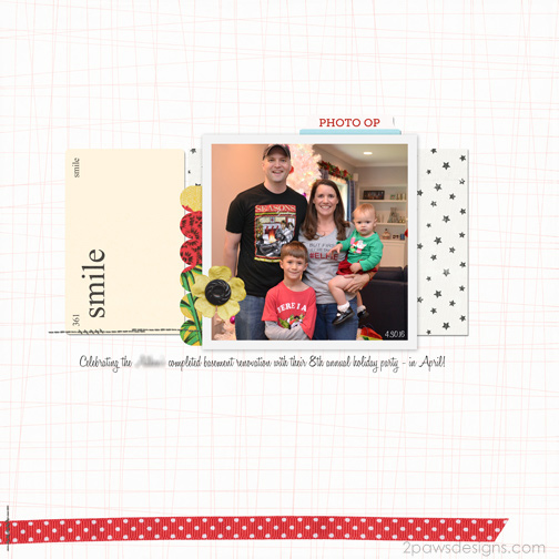 Christmas in April: digital scrapbook page