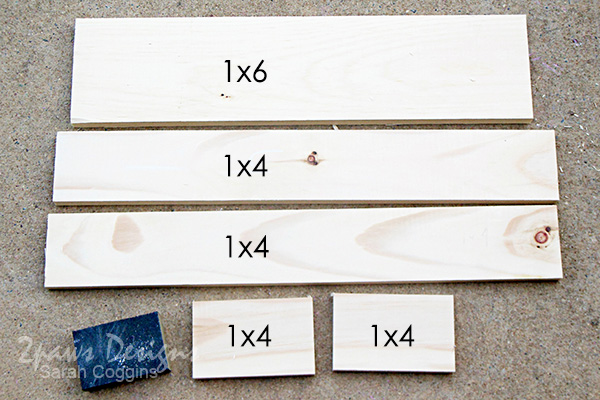 DIY Bathroom Organizer: wood cuts